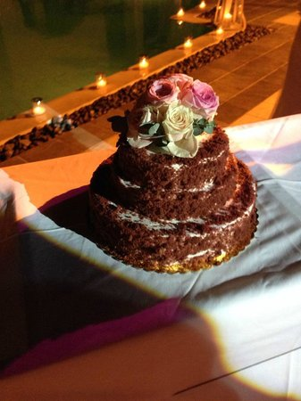 Rocabella Santorini Hotel & Spa: cake made by Rocabella - red velvet, amazing