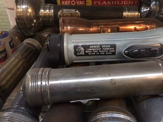 Sterling Hill Mining Museum: old flashlight collection (boys you love this, right?)