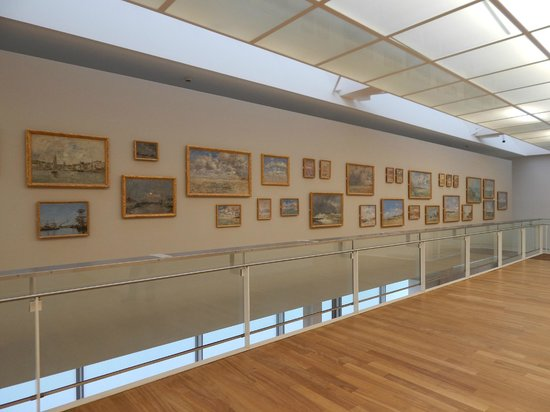 MuMa Musée d'art moderne André Malraux : an entire wall of Boudin