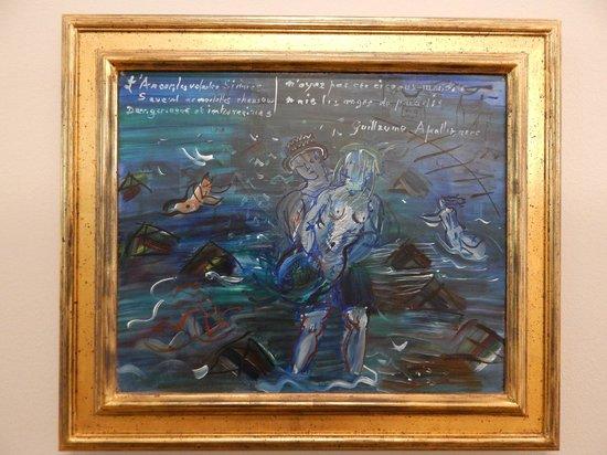 MuMa Musée d'art moderne André Malraux : A Dufy based on Apollinaire