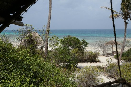 Chumbe Island Coral Park : Blick vom Bett in Chalet 1