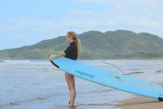 Point Break Surf School: Looking out into the waves, waiting my turn