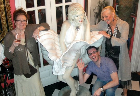 Robbies: Marilyn greets guests as they arrive