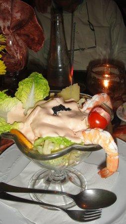 Robbies: My starter, a prawn cocktail