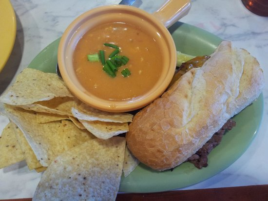 Mc Alister's Deli: French dip roast beef sandwich