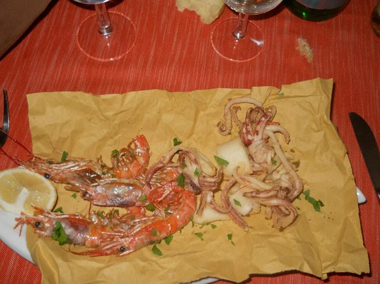 Ristorante Da Pio : Frittura calamari e gamberi (solo 2 gamberi e 1 calamaro)