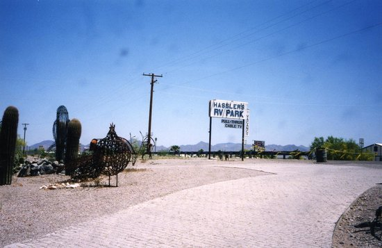 Hassler's RV Park and Iron Sculptures