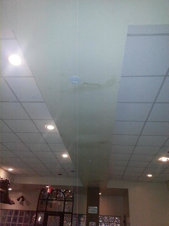 Embassy Suites by Hilton Seattle North Lynnwood: Stained ceiling/leaks