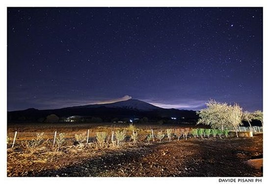 Fucina di Vulcano: Panorama notturno dal giardino. ©D.Pisani