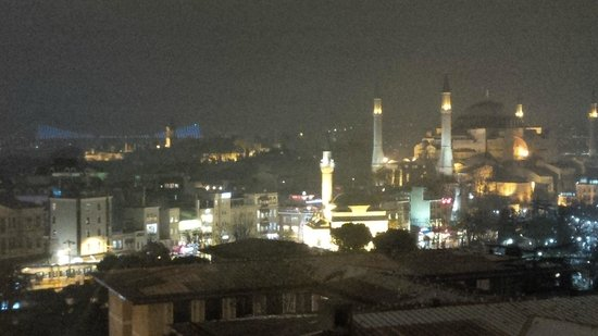 Real Istanbul Tours: Hagia Sofia from rooftop patio