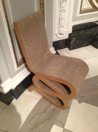 Renaissance Blackstone Chicago Hotel: Vitra Wiggle Chair - it was soft to the touch, like suede.  Don't sit in them though!