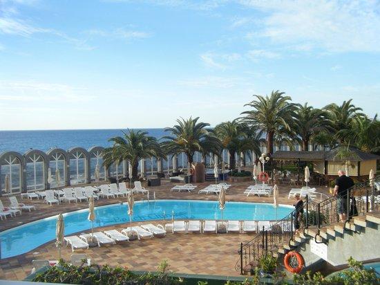 San Agustin Beach Club: View from our balcony/room.