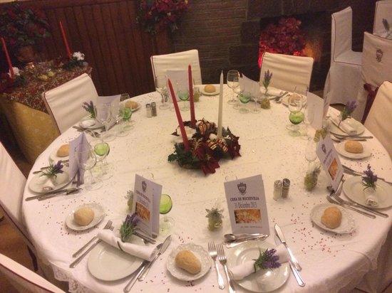 Hotel Adsera : Mesa decorada Fin de Año