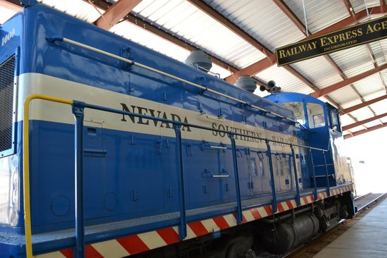 Nevada Southern Railway Excursion: Engine in the museum