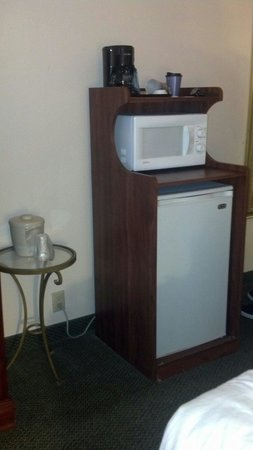 Holiday Inn Express Hotel & Suites - Cleveland: In room refrigerator.