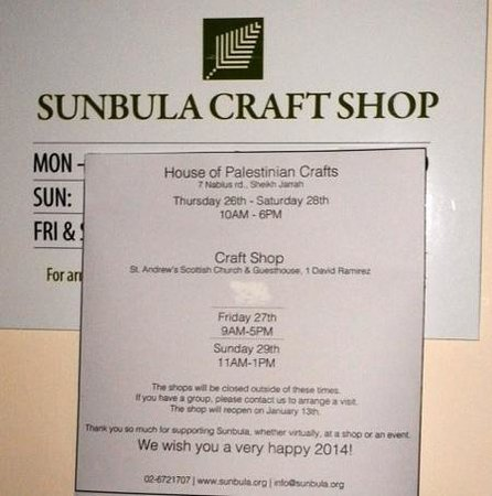 St. Andrew's Scots House Hotel: Craft Shop Hours