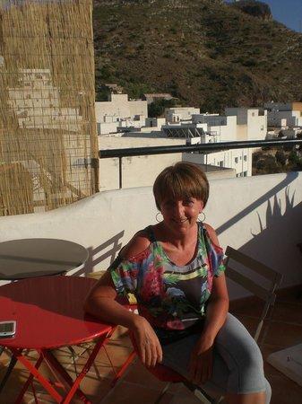 Hostal El Olivar : Breakfast on the terrace