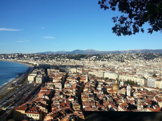 Colline du château : View of nice from top of castle hill
