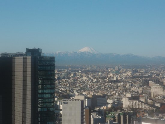 Cerulean Tower Tokyu Hotel : 富士山が見えた