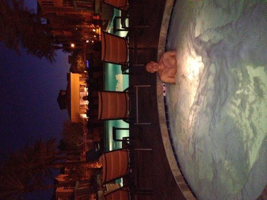 Gainey Suites Hotel: Hot tub at night!