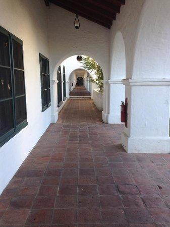 The Hacienda: Courtyard passageway