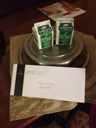 Providence Marriott Downtown: Surprise from Guest Relations