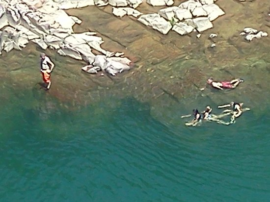 Johnson's Shut-ins State Park: People Swimming in the water