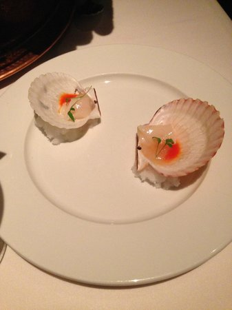 Frontera Grill: scallop ceviche (complementary)
