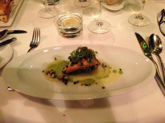 Le Saint-Amour: Arctic char, quinoa with fennel lemon confit and caviar vinaigrette