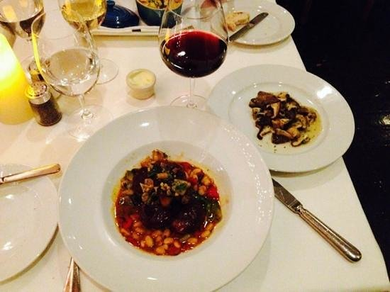 The Compound Restaurant : Osso Bucco and Porcini Mushroom Dish