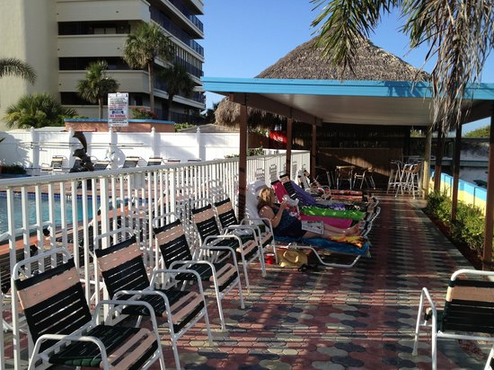Plaza Beach Hotel - Beachfront Resort: Relaxing in the sun by the Gulf!