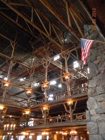 Interior of Old Faithful Inn