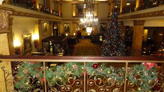 The Pfister Hotel : The grand front lobby of the Pfister.