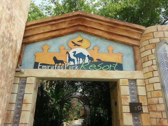 Emirates Park Resort: Entrance