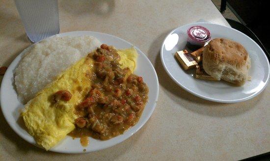 Mother's Restaurant: Crawfish etouffee omelet