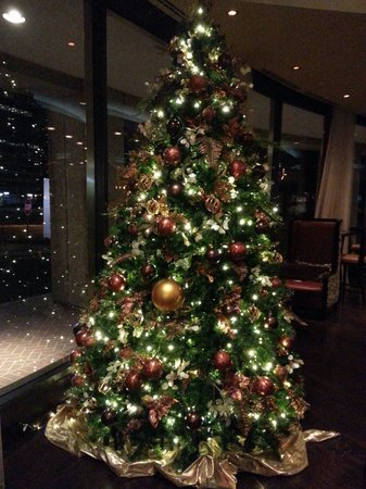 Crystal City Marriott at Reagan National Airport: Lobby Xmas tree