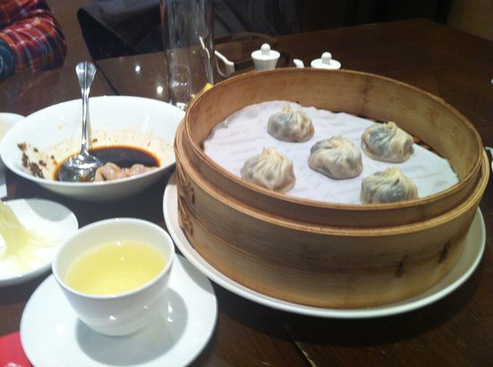Din Tai Fung (Shanghai New World): Black truffle & pork soup dumpling.