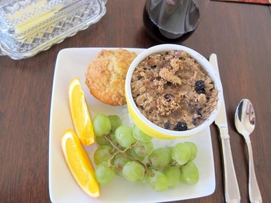 The Crossings Bed & Breakfast: This delicious baked oatmeal dish came from a quaint little restaurant downtown Billings called