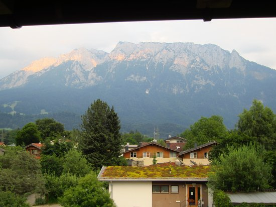 Landhaus Kitzbichler: View of Mt. Kaiser (2000 m) from the apartment on the upper floor.