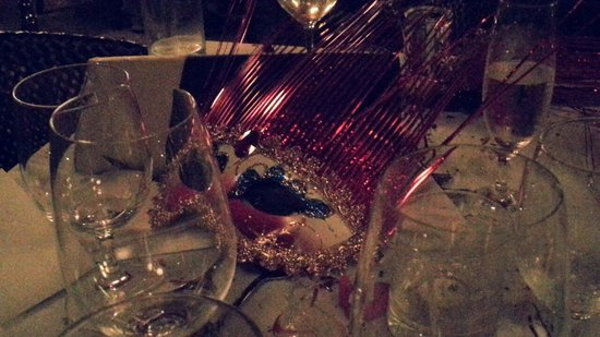 Sheraton Lagos Hotel: Party table with a mask