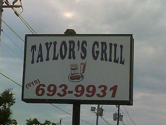 Oxford, North Carolina: taylor's grill  919-693-9931