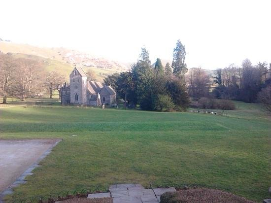 Ilam Park : view from the house of the church