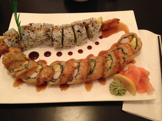 Aka sushi sashimi combo picture of sakura sushi for Aka japanese cuisine menu