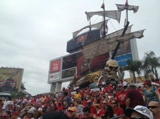 Raymond James Stadium: view of ship from seats