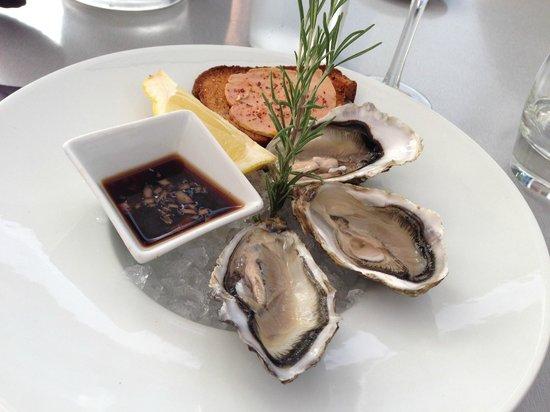 Bistrot À Côté : Hors d'oeuvre - oysters and foie gras