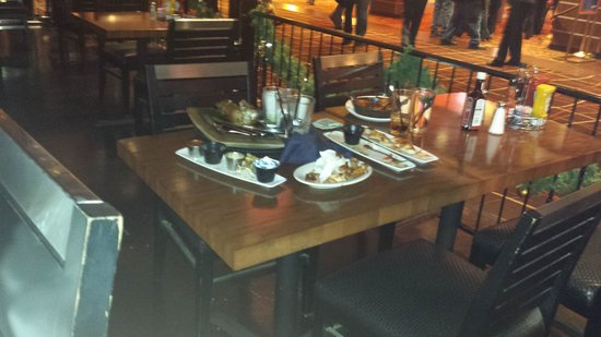 Lumiere Place Casino: they could jot even clear tje dirty dishes. they jist kept stacking them on the table begind us.