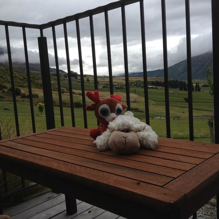 Mt Rosa Lodge: View from Gibbston Suite (Lucy & Rudy not included)