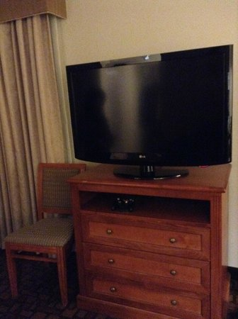 Homewood Suites by Hilton Edgewater - NYC Area: 大型テレビ (いまどきは当たり前でした^^)