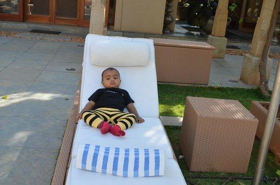 Shreyas Yoga Retreat: My son relaxing...