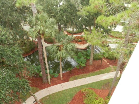 Marriott's Monarch at Sea Pines: Looking out from balcony.